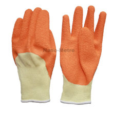 NMSAFETY 10 gauge yellow yarn coat orange latex construction work gloves