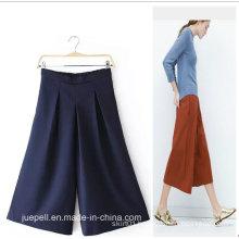 OEM High Quality Elegant Fashion Ladies Wide Leg Pants