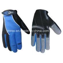 Aufbau, der Vollfinger-mechanische Sicherheits-Hand schützt, schützen Handschuh