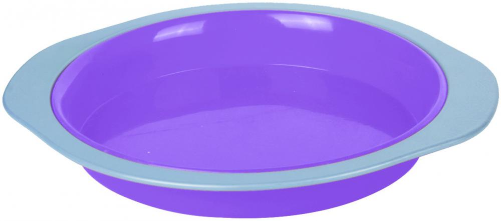 Silicone round cake pan with carbon steel range
