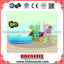 Plasti Slide and Swing for Toddler with Inflatable Ball Pit