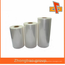 Accept custom order eco-frinedly clear heat lldpe film pe shrink wrap film for Individually packing