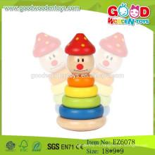 2015 Самая новая игра клоуна клоуна, деревянные игрушки клоуна, игрушка складывая детей