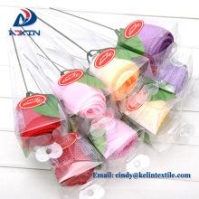 En gros alibaba 100% coton éponge tissu souvenirs rose serviette