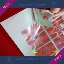 Red hologram sticker