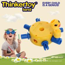 Plástico juguetes educativos y intelectuales para niños Bloques de construcción para niños pequeños