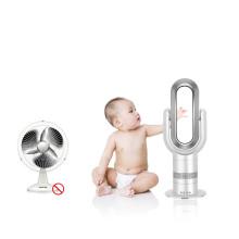 2019 venden al por mayor el ventilador oscilante eléctrico de cerámica del calentador de escritorio del PTC con el indicador digital y el mando a distancia