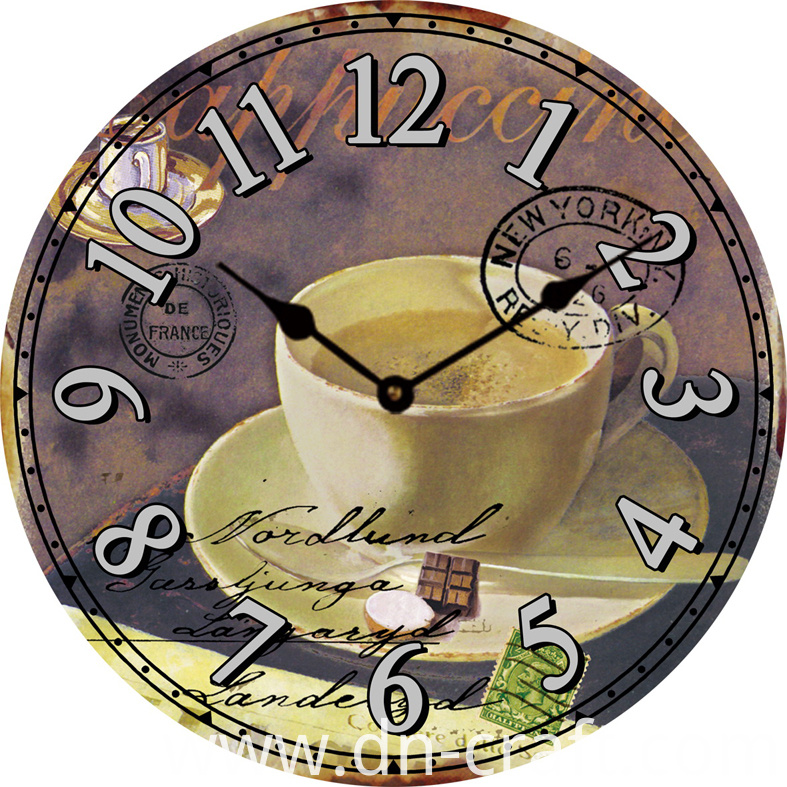 Classical MDF Festival Wall Clock