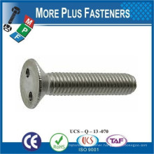Made in Taiwan Two Hole Countersunk Flat Head Self Tapping Snake Eye Stainless Steel Security Screw