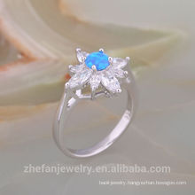 Luxurious Fashionable Australian Opal 925 Solid Sterling Silver Ring for Gift