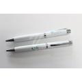 Weiß Metall Kugelschreiber Company Logo Design Stift für Bürobedarf
