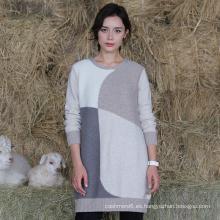 2017 Fábrica Al Por Mayor Señora Custom Knitted Cashmere Sweater