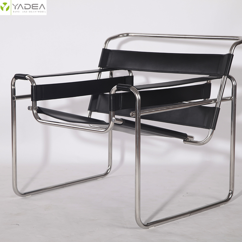 Leather wassily chair