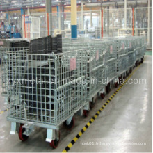 Magasin industriel de stockage Daily Movable Wire Container