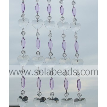 Cheap 14MM&38MM&37MM Plastic Crystal Beaded Chain
