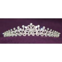 Discount Custom Hochzeit Tiara glänzend Kristall Braut Krone