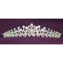 Descuento Custom Wedding Tiara Brillante Corona De Cristal Nupcial