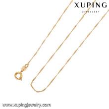 43001 Xuping nova moda corrente de ouro palted