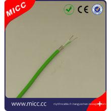 Câble d'extension de thermocouple de type KX-PVC / SSB / PVC-7 / 0.2mm-CEI