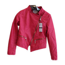 2014 newest autumn leather jacket for women