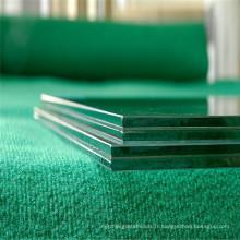 Verre feuilleté clair / salle de bains en verre, décoratif / verre de fenêtre