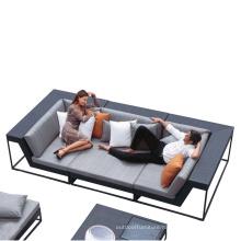 Comfortable PE rattan sofa sets outdoor wicker sofa with coffee table