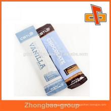 Emballage rectangulaire en chocolat rectangulaire imprimé sur mesure et laminé en plastique