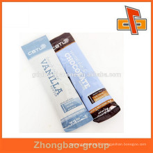 Plastic laminated customized printed rectangular chocolate bar packaging