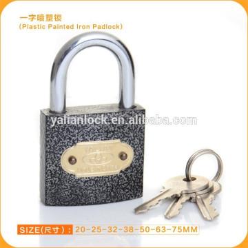 2015 dubai mercado quente venda de plástico revestido de ferro padlock em todos os tamanhos