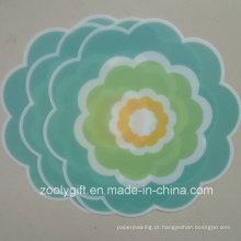 Die-Cut flor em forma de PP Tabela de mesa PP Coaster