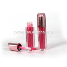 OEM productos calientes China moda imprimir logo plata luz hasta brillo de labios con el casquillo de revestimiento UV