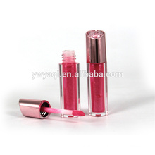 Oem hot products China fashion print logo silver light up lip gloss with UV plating cap