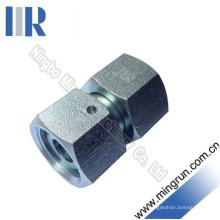 Adaptateur de tube droit métrique avec adaptateur hydraulique à écrou pivotant (3C)