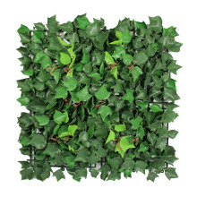 12 pieces 50 x 50 cm New design fresh PE outdoor plastic leaf screen for mall decoration