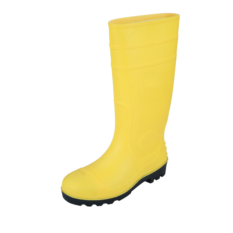 PVC safety rain boots with steel toe