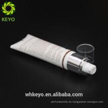 tubo de plástico suave cosmético aieless de la bomba del nuevo del envase de empaquetado de la crema del diseño