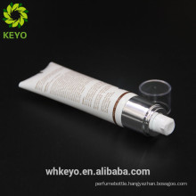new design cream packaging container cosmetic plastic soft tube aieless pump tube