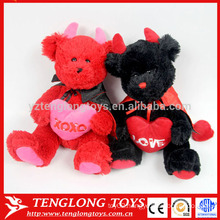 couple wedding bear red and black stuffed soft teddy bear toy