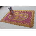 Cheap and Strong PVC Lace Gold Tablemat Size 30*46cm
