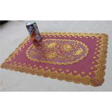 Tamaño barato y fuerte del Tablemat del oro del cordón del PVC los 30 * 46cm