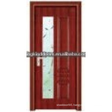 Latest design interior steel wood glass door JKD-2078(A)