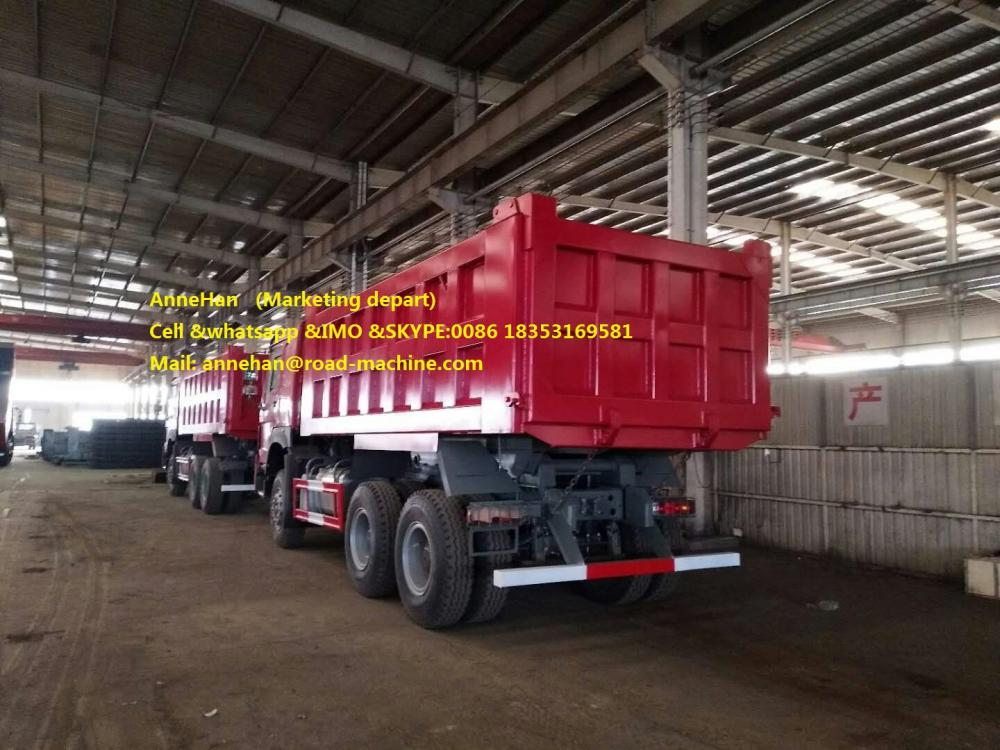 Mid Lifting Dump Truck Red 3