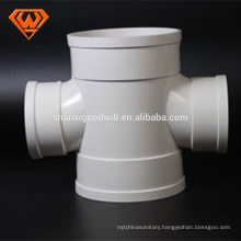 PVC cross pipe fitting