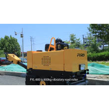 800kg weight of walk behind double drum road roller 635mm width soil compactor FYL-800