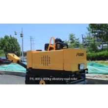 800 kg de peso a pie detrás del rodillo de doble tambor compactador de suelo de 635 mm de ancho FYL-800