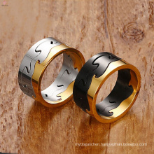 2017 cool sport stainless steel ring of 9.5 MM for men