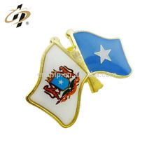 Custom design promotional cheap custom printing epoxy national flag pin badge