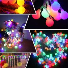 LED Ball Globe farbige Lichterkette