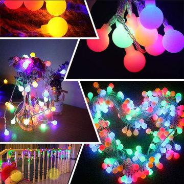 LED Ball Globe farbige Lichterkette