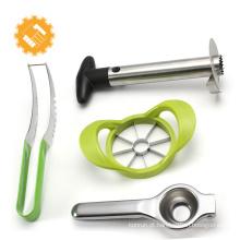 4 pcs conjunto de ferramentas de frutas apple peeler melancia cortador de abacaxi slicer e limão imprensa